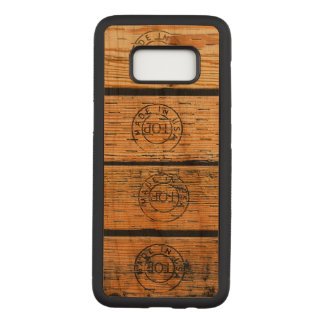 """Wood Planks Stamped with """"Made in USA"""" Carved Samsung Galaxy S8 Case"""