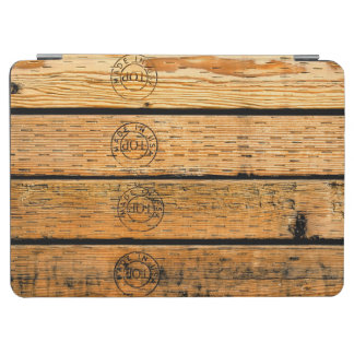 "Wood Planks Stamped with ""Made in USA"" iPad Air Cover"