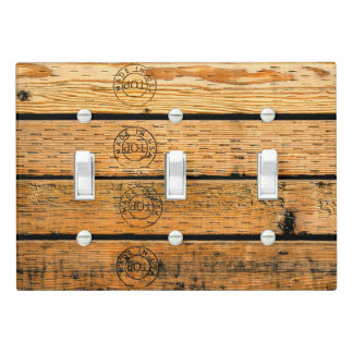 """Wood Planks Stamped with """"Made in USA"""" Light Switch Cover"""