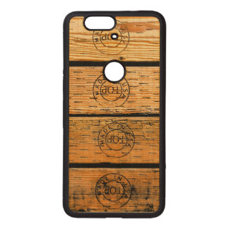 "Wood Planks Stamped with ""Made in USA"" Wood Nexus 6P Case"