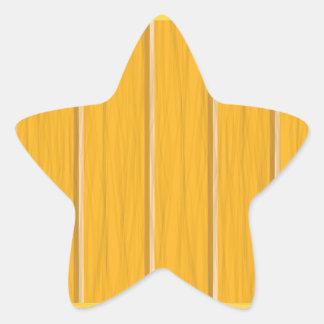 wood planks star sticker