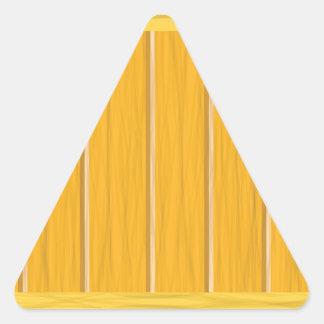 wood planks triangle sticker