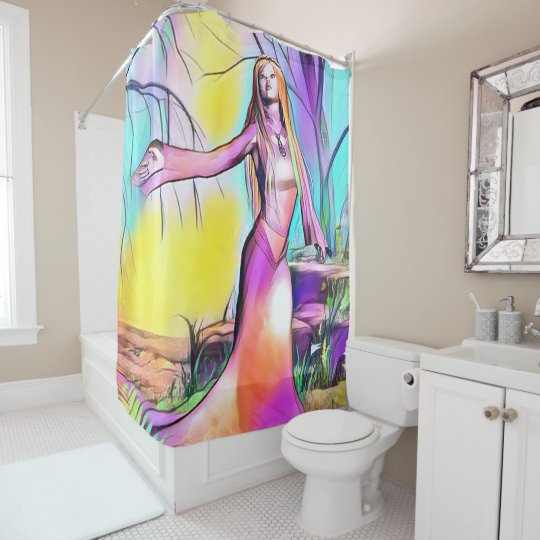 Wood princess shower curtain