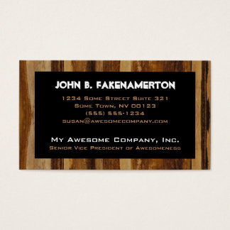 Wood Print Business Card