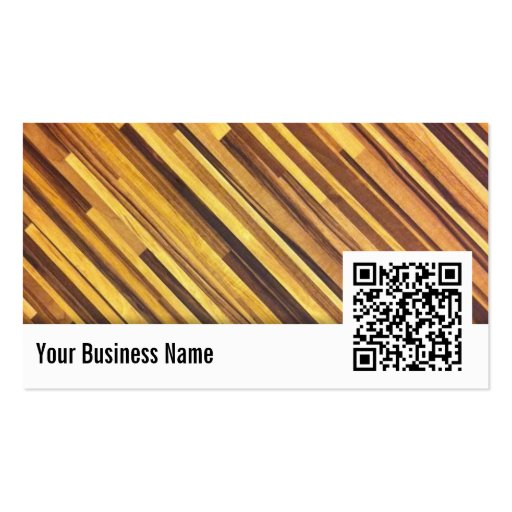 Wood QR Code Marriage Counseling Business Card