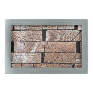 wood, retro, trees rectangular belt buckle
