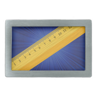 wood ruler belt buckle