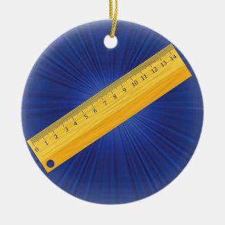 wood ruler ceramic ornament