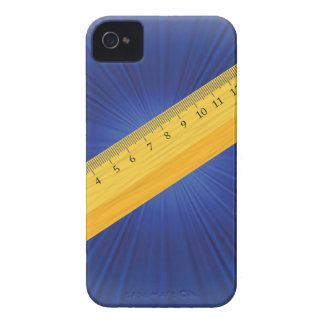 wood ruler iPhone 4 Case-Mate case