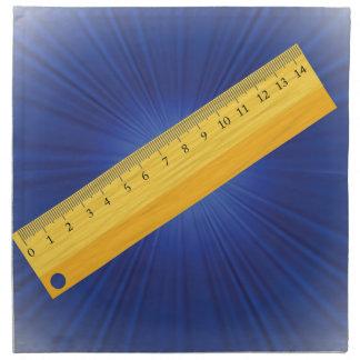 wood ruler napkin