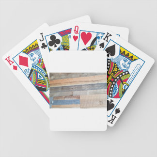 Wood rustic bicycle playing cards