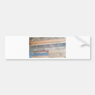 Wood rustic bumper sticker