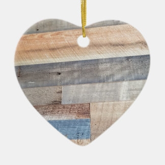 Wood rustic ceramic ornament