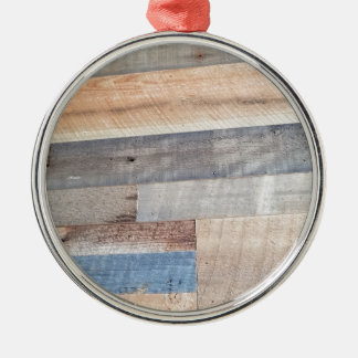 Wood rustic metal ornament