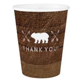 Wood Rustic Paper Cup