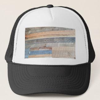 Wood rustic trucker hat