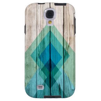 Wood Samsung galaxy s4 case Chevron Zig Zag Tribal