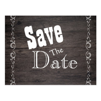 Wood Save the Date Postcard