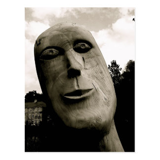 Wood sculpture [mono] postcard