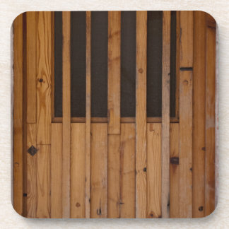 Wood Slats Beach Door Costa Brava Spain Coaster