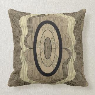 Wood slice throw pillow