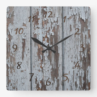 wood square wall clock