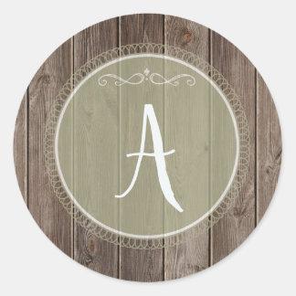 wood sticker monogram