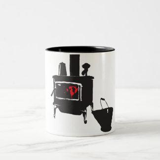 Wood stove Two-Tone coffee mug