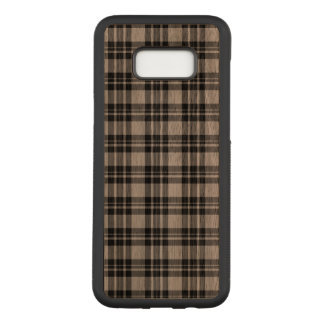 Wood Tartan Phonecase Carved Samsung Galaxy S8+ Case