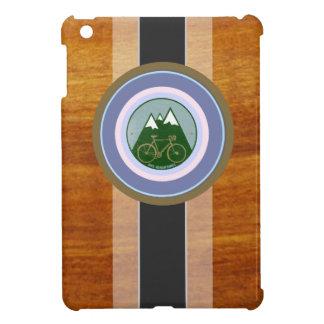 wood texture and bike iPad mini case