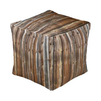 Wood Texture Cool Unique Pouf