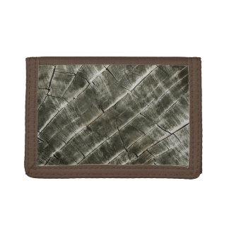 Wood Texture Cool Unique Tri-fold Wallet