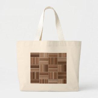 Wood texture large tote bag