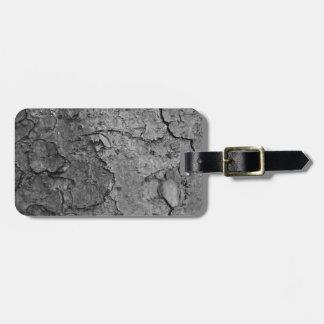 Wood texture luggage tag