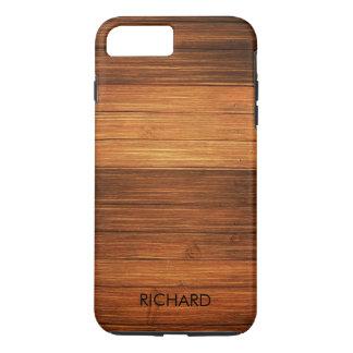 Wood Texture Monogram iPhone 8 Plus/7 Plus Case