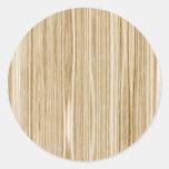wood texture round sticker