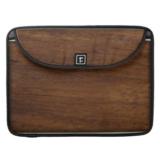 Wood Texture Rugged Construction Sleeve For MacBooks