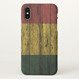 Wood Textured Bolivia flag iPhone X Case