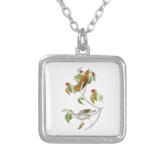 Wood Thrush John James Audubon Birds of America Silver Plated Necklace