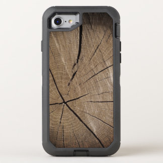 Wood tree trunk rustic style OtterBox defender iPhone 8/7 case
