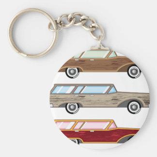 wood trim station wagon keychain