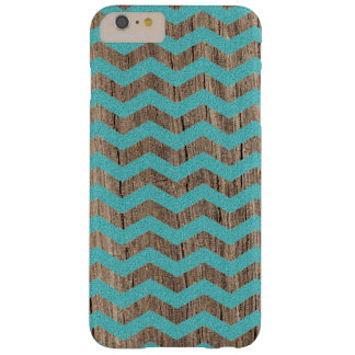 Wood turquoise chevron zig zag zigzag pattern barely there iPhone 6 plus case