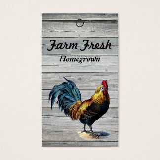 Wood Vintage Rooster Homemade Price Tags Business Card