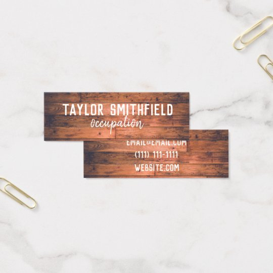wood vintage trendy paint rustic business card