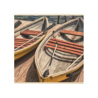 "Wood Wall Art 8""x8"" - The Boats"