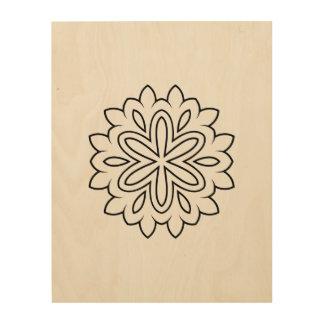 Wood wall art : natural Mandala art collection