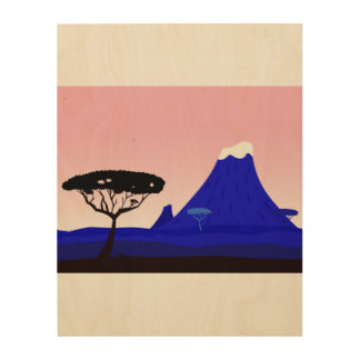 Wood wall art with EXOTIC COUNTRY Wood Print