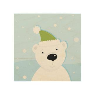 Wood wall art : with Kids teddy bear