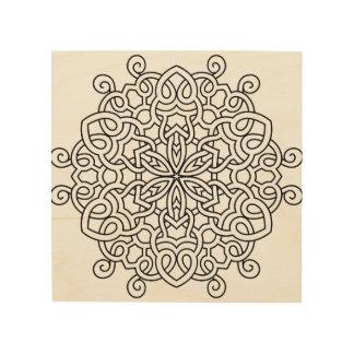 Wood wall art with Mandala drawing