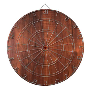 Wood WALNUT finish BUY BLANK Blanc Blanche + TEXT Dart Boards